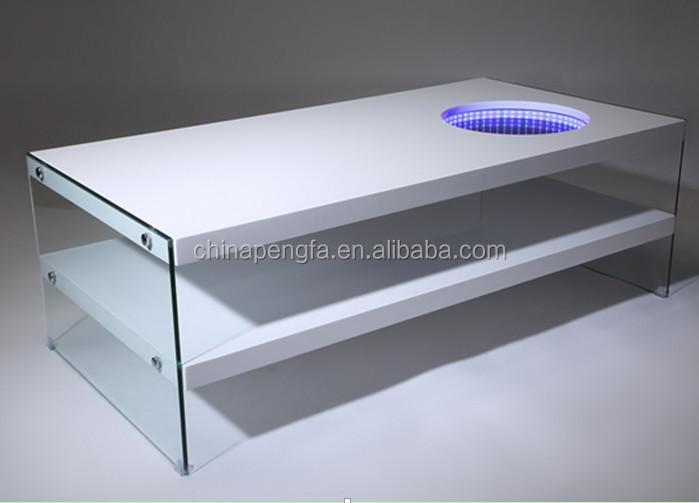 modern light up coffee table - coffee addicts