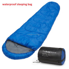 Outdoor Walking Hiking Warm Light weight Professional Mummy Sleeping Bag For Adult With Carry Bag