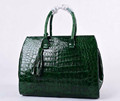 Latest lady crocodile handbags with tassel Dr. Green crocodile bags alligator bag