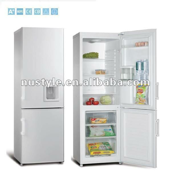 BCD-250W Double Door Refrigerator, Bottom Freerzer Refrigerator, Down Freezer Refrigerator