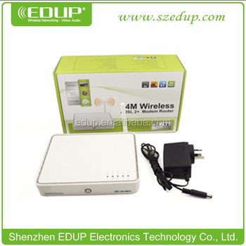 Shenzhen router EDUP EP-V7 wifi wireless router 54Mbps ADSL Wireless Modem Router 4-port