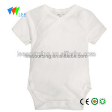 Wholesale short sleeve plain white clothes baby romper bamboo baby onesie