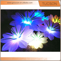 Popular party decoration inflatable artificial flower with led light