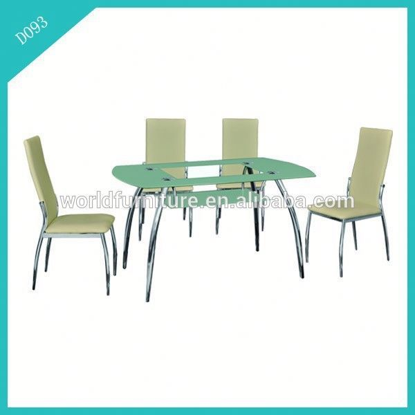 2015 hot sale modern glass (smoked) dining table