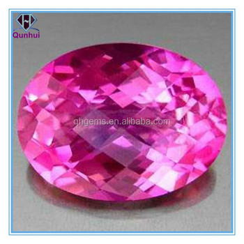 oval shaped pink cubic zirconia stone