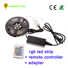 China Factory IP65 Waterproof SMD 5M 300LED RGB Flexible 5050 12V led strip connector light kits, color changing led lights luce