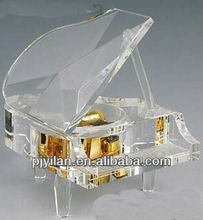 elegant glass crystal music gift items electronic crystal gift