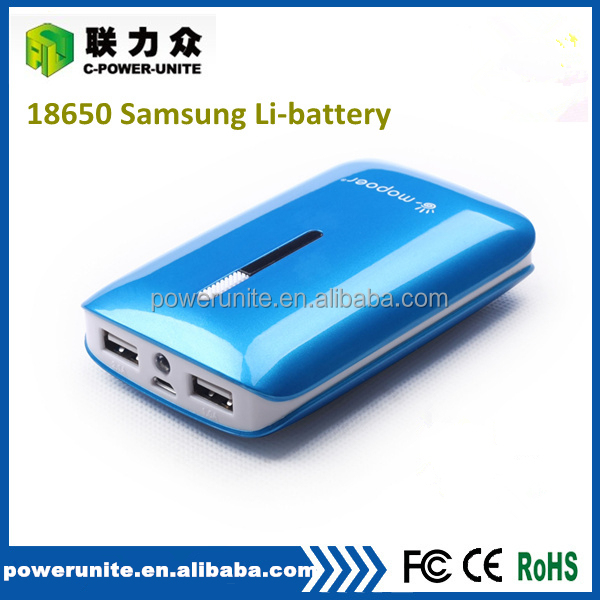 Personalized cheap power bank made in China with 5v 2a dual outport for mobile charging.