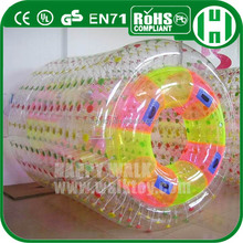 HI EN71 crazy and amazing swimming pool rolling water roller ball,water roller and swimming pool,clear water roller