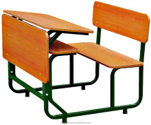 double student desks and chair bench,school furniture
