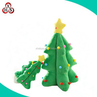 Chinese Custom sale 35cm green soft plush christmas tree toy with small ball