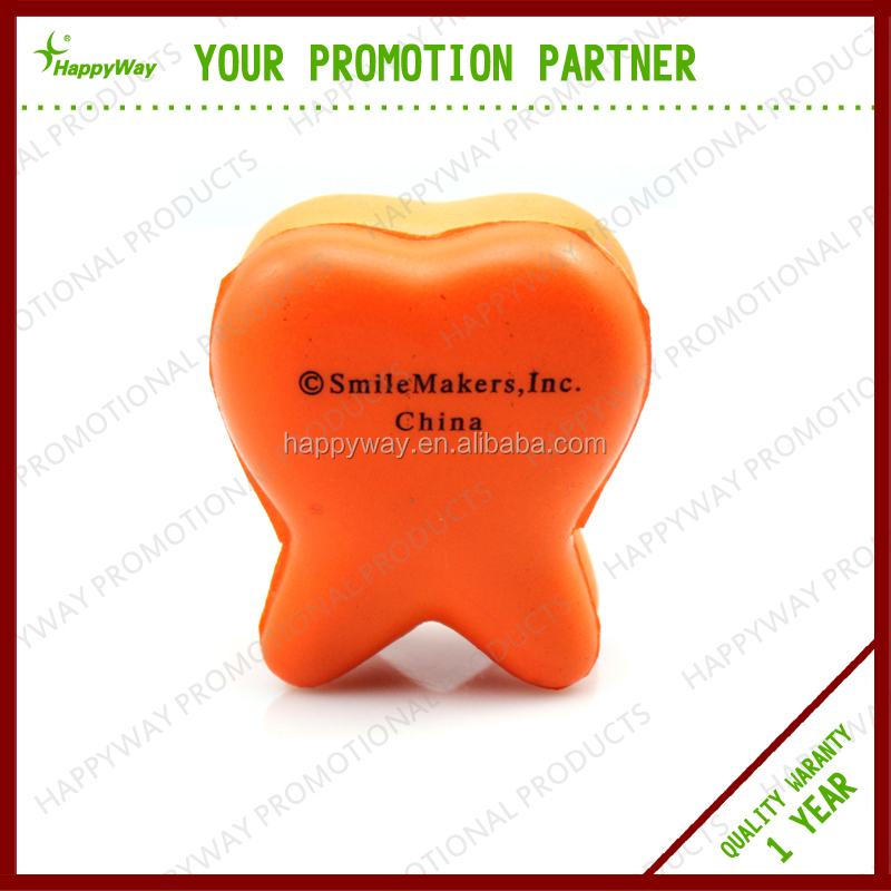 Cheap Creative Teeth Stress Ball , MOQ 100 PCS 0101027 One Year Quality Warranty