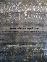 SALE-10% OFF FACTORY PRICE - Nepal Hand Knotted Tibetan Allo Bamboo Silk Wool Carpet Rug