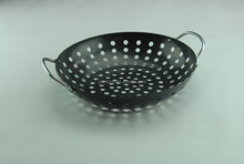 professional BBQ charcoal grill basket with non stick coating