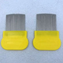 Dog Pet Metal <strong>Plastic</strong> Head Stainless Steel <strong>Lice</strong> <strong>Comb</strong>