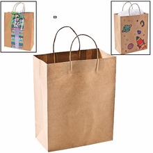 Custom brown kraft paper gift bags / shopping bags/Small Paper Gift Bags