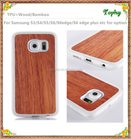 2016 The New cheap Best price for TPU Transparent 100% real wood case for samsung galaxy s6