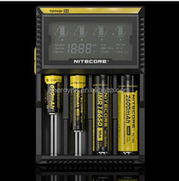 2015 new genuine Nitecore d4 battery charger whole sale for26650 /18650/18350/16650/18490/18500A/AA/AAA