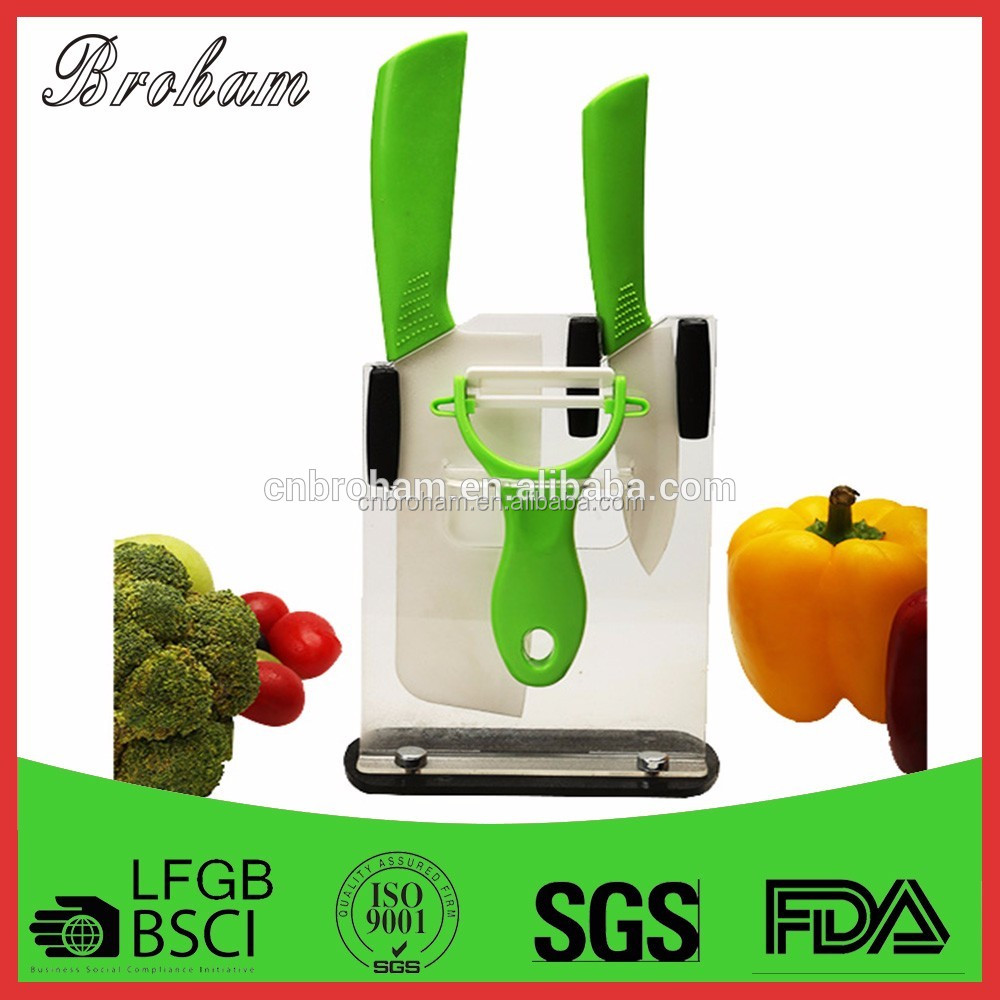 fast back handle series ceramic knifes set kitchen
