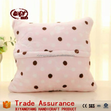 china export wholesale multifunction plush pink pilow/cushion for kids gift