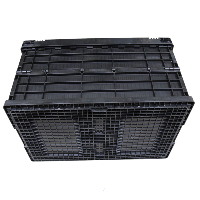 Black Plastic Folding Box Multi-use Foldable Plastic Container without Lid or not