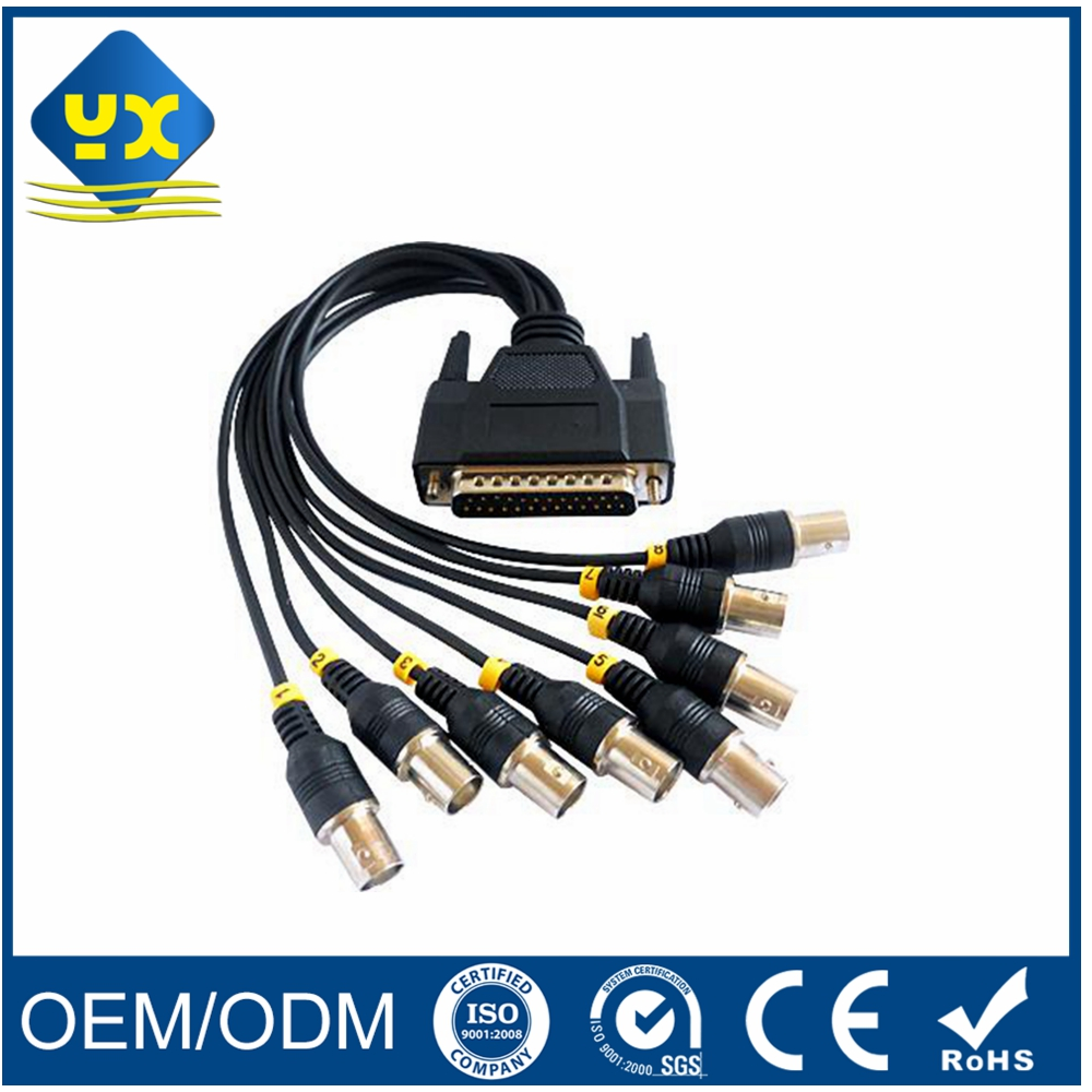 DB25 Pin to 8 BNC Male Coaxial Connector Cable