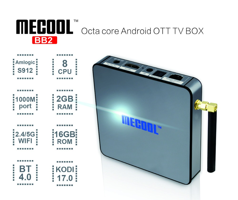 2016 New Arrival bb2 amlogic s912 mini vu solo iptv streaming hd 4K S912 tv box