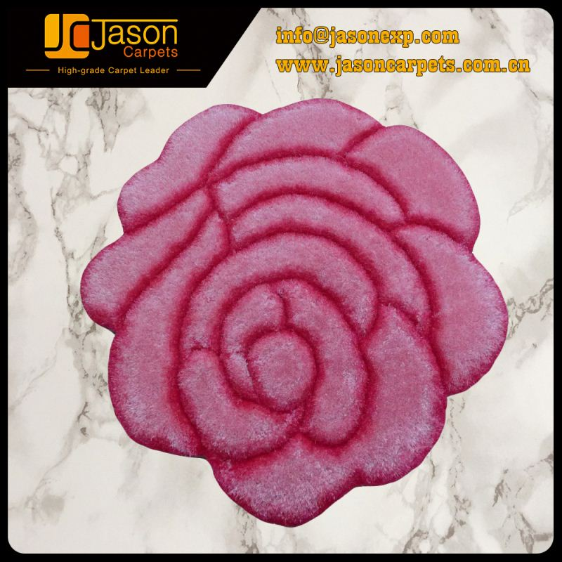 No Complain Promotional Luxury Flower Shaped Carpet Simple