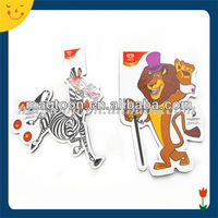 Special design animal shape paper fridge magnet