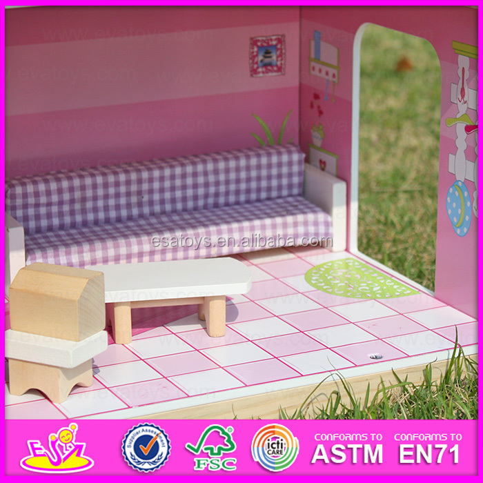 2016 Happy play kids wooden miniature dollhouse furniture W06A104-S