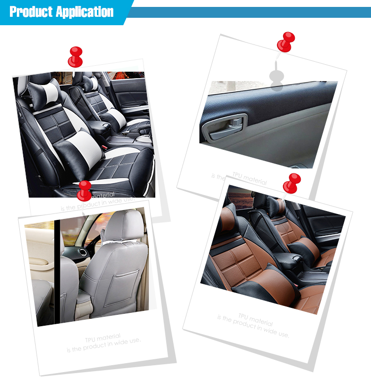 Classic lychee embossing car seat Pvc artificial leather for cars
