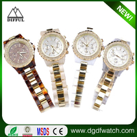 Top quality stainless steel watch fancy women hand crystal ladies chain watch
