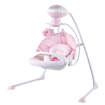 Duluxe Musical Rotatable Baby Cradling Swing with MP3 Function dining tray and electric toys