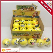 "3"" Hot Selling Soft Toy Cheap PU Party Pack Emoji Stress Balls"
