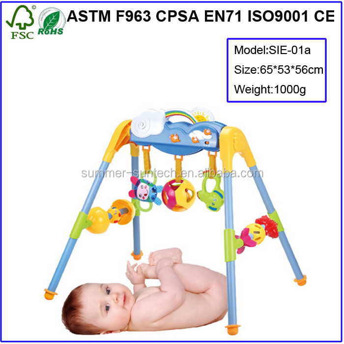 0 and 1 year old baby toys Baby music fitness frame with five hangs children's early education initiation toy