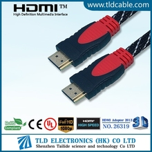 Factory sealed dual color nylon net hdmi cable