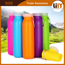 500ml Portable Folding Liquid Silicone Outdoor Sports Riding Hiking Camping Environmental Protection Water Bottle