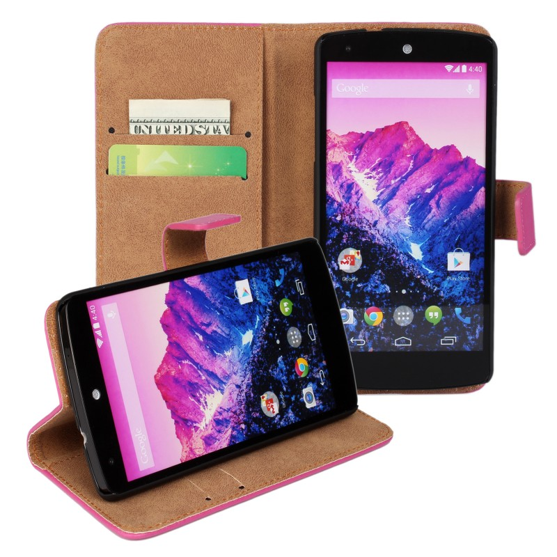 Funda Capa Para Regenerated Leather Wallet Flip Stand Cover for LG Nexus 5 E980 Case Etui Mobile Phone Accessories