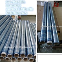 hot pvc blue film for 2inch size tube core