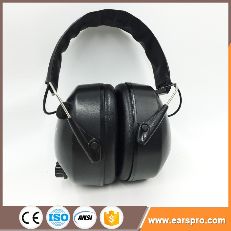 Sound trap electronic ear muff for shooting and hunting