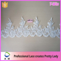decorative beaded lace trim/decorative beaded lace trim white/wholesale decorative beaded lace trim