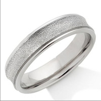 Yiwu Aceon Stainless Steel Sandblast Silver Tone vogue jewelry wedding rings