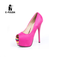 New 2016 Sexy stiletto pumps shoes high heel new model women sandals lady shoe