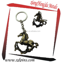 2014 made new product metal horse ornament keychain
