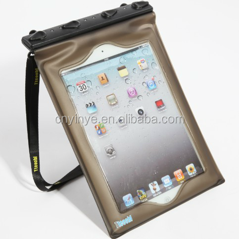 Custom 100% Seal PVC waterproof bag outdoor waterproof case for ipad