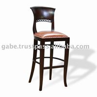 BARSTOOL ITALY RANTAI WITH LEATHER SEAT