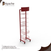 High quality branded retails store Wire Wine Metal Display Stand