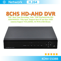 Best selling!!! AHD 720P 8ch HD DVR P2P Real time record and playback,