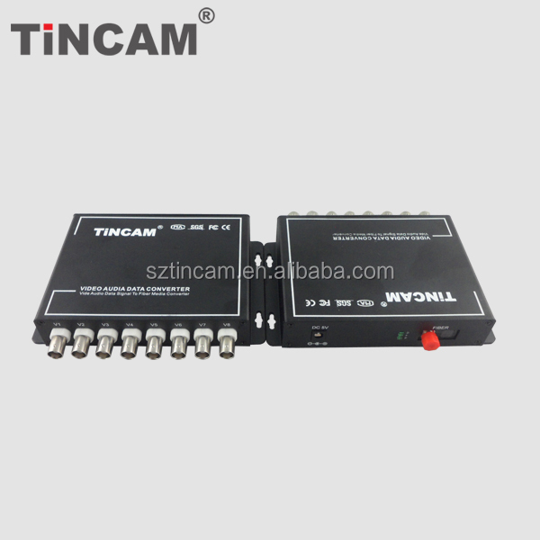 8ch High Quality Cctv Fiber Optic Transceiver 8 Channel Video/data/audio Digital Optical Converter