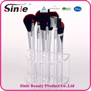 Wholesale factory price personalised professional private label 7pcs cosmetic oval makeup brush set